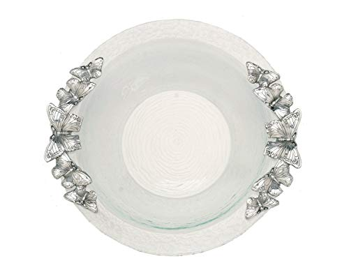 Arthur Court Butterfly 16-Inch Glass Salad Bowl