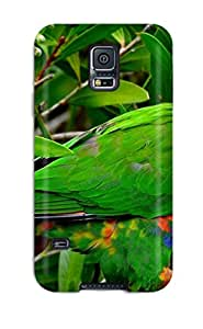 Defender Case For Galaxy S5, Rainbow Lorikeet Pattern