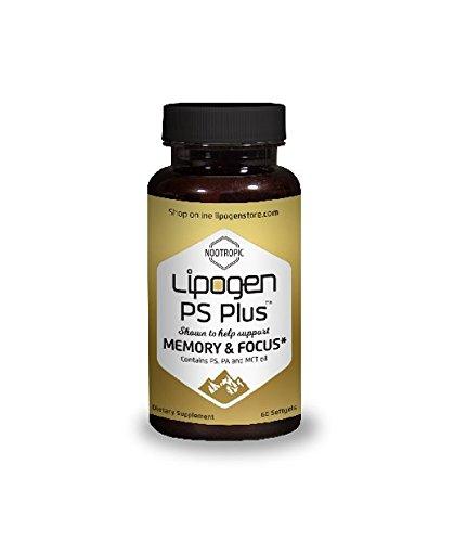 Boosts Brain Function and Memory: Clinically STUDIED AND PROVEN Formula. Scientifically Optimized – Highly Effective Dose – Phosphatidylserine + Phosphatidic Acid – Lipogen PS (Memory Plus Formula)