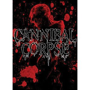 Cannibal Corpse Red Skull Fabric Poster Flag