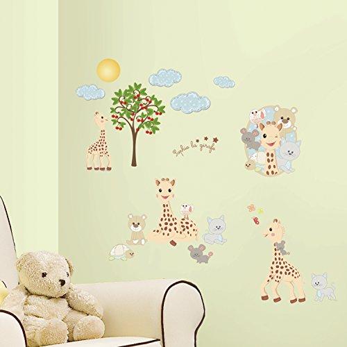 Giraffe Peel (RoomMates RMK2863SCS Sophie La Giraffe Peel & Stick Wall Decals, 30 Count)