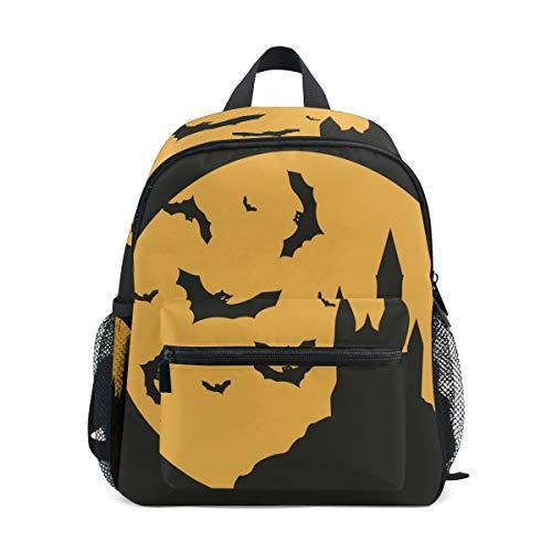 MUOOUM Halloween Bat Caste Kids Backpack Pre-School Toddler Bag Travel Daypack