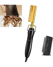 مشط ساخن لتصفيف الشعر 2 في 1، مشط سيراميك امن ومحمول لتمويج الشعر ومتعدد الوظائف، مشط للرجال والنساء