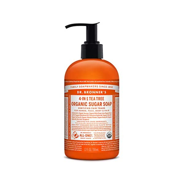 Dr Bronner's Tea Tree Organic Pump Soap – 12 oz./355 ml