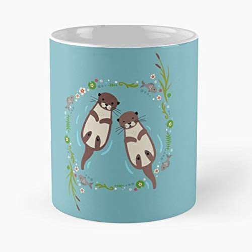 Otter Otters Cute Animals Gift Coffee/tea Ceramic Mug Father Day ()