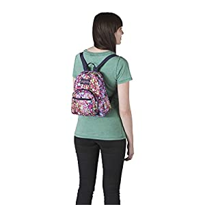JanSport Half Pint Backpack Multi Flower Explosion