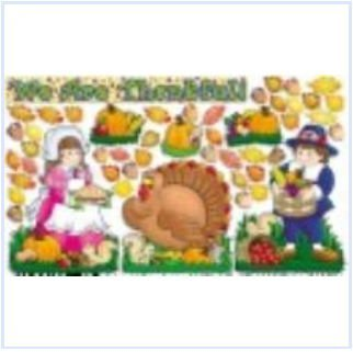 Scholastic 9780545469142 We Are Thankful' Design Bulletin Board Set