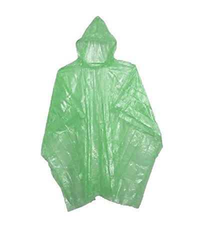Sara Glove Emergency Green Rain Ponchos - Lightweight & Disposable Bulk Case of - Rain Green Poncho