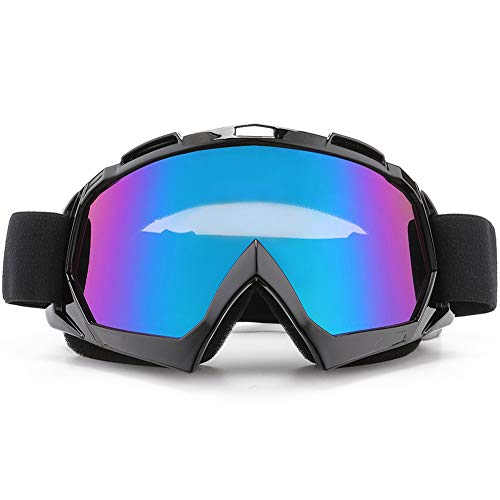 SPOSUNE Motorcycle Goggles, ATV Dirt Bike Off Road Racing MX Riding Goggle Anti-Scratch Dustproof Bendable UV400 Eyewear with Padded Soft Thick Foam,Adjustable Strap for Adults Cycling Motocross