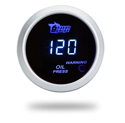Excellent DC12V Blue LED Digital Oil Press Gauge 6116BL-W (Diameter: 52MM/2 inch)