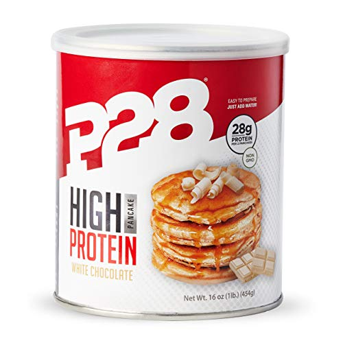(P28 Foods The Original High Protein Pancake Dry Mix, White Chocolate, 16 Ounce)