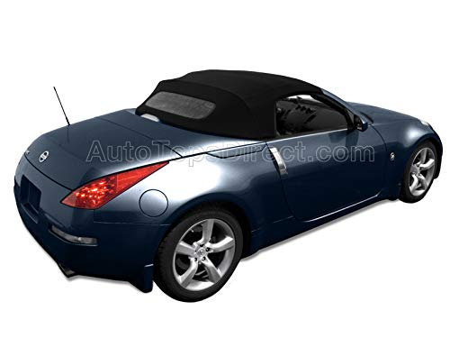 Sierra Auto Tops Nissan 350Z Convertible Soft Top Replacement, fits 2004-2009, w/Heated Glass Window, Stayfast Canvas, Black