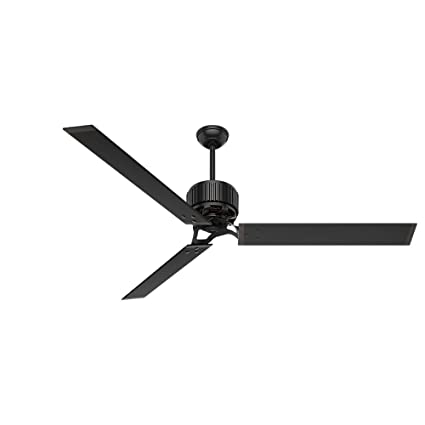 Hunter fan company 59136 industrial 72 ceiling fan with 6 aluminum hunter fan company 59136 industrial 72quot ceiling fan with 6 aluminum blades matte black aloadofball Image collections
