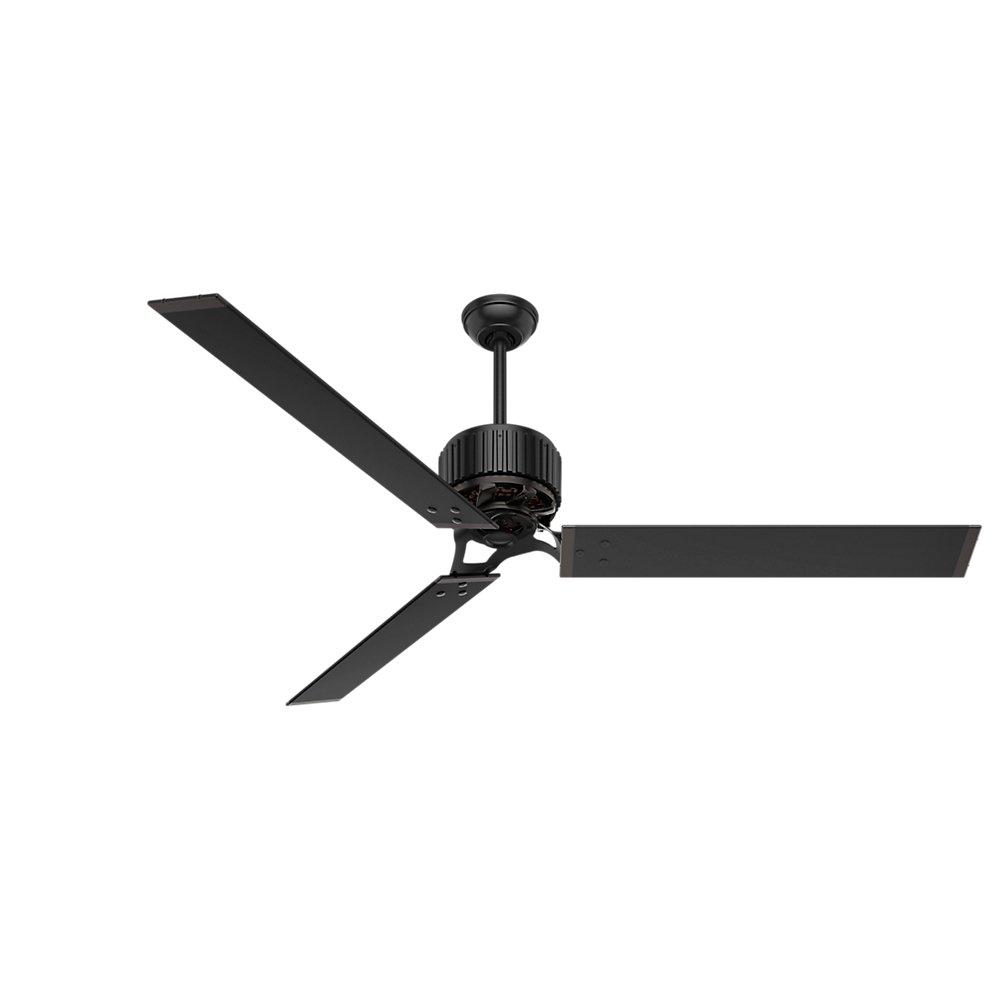 Hunter 59136 Industrial 72'' Ceiling Fan with 6 Aluminum Blades, Matte Black by Hunter Fan Company