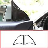 2pcs Carbon Fiber ABS Chrome Door Speaker Frame Trim For Mercedes Benz CLA 200 220 260 W117 C117 2015-2018