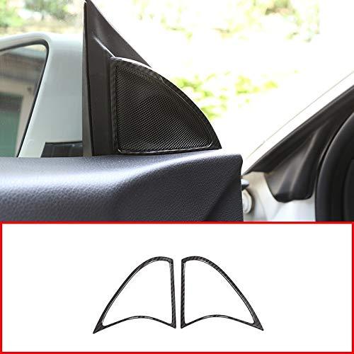 2pcs Carbon Fiber ABS Chrome Door Speaker Frame Trim For Mercedes Benz CLA 200 220 260 W117 C117 2015-2018 by silutong