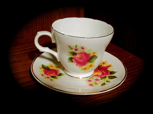 Crown Trent Fine Bone China Cup and Saucer (Staffordshire) Crown Staffordshire Fine Bone China
