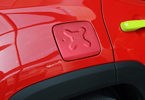 Nicebee-Gas-Fuel-Tank-Cap-Filler-Door-Trims-Exterior-Covers-ABS-Chrome-For-Jeep-Renegade-2015-UP-Red