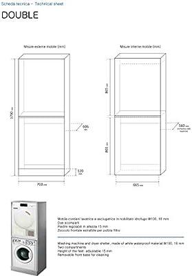 Negrari - Mueble de columna para lavadora/secadora doble: Amazon ...