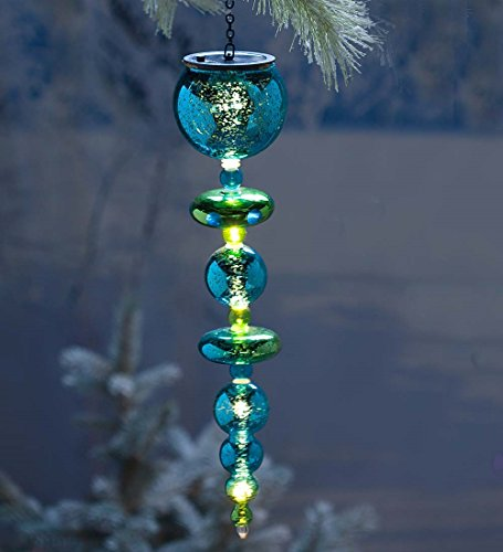 Solar Finial Ornament in Green Glass