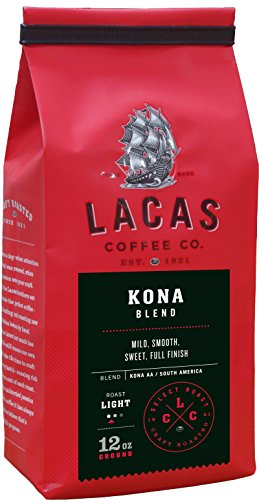 (Lacas Coffee Company Kona Blend Medium Fine 12 oz.)