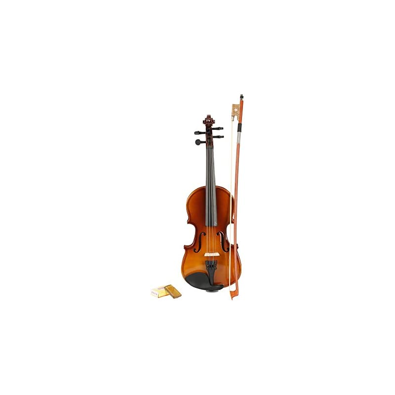 1/8 Size Ebony Acoustic Violin with Case