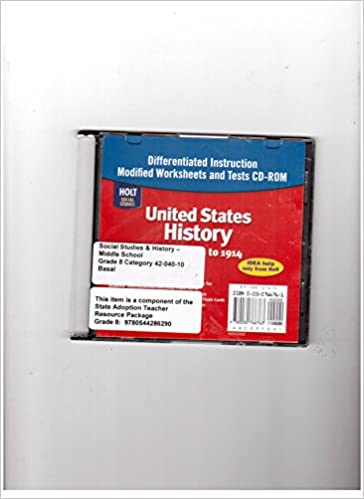 Workbook differentiated instruction worksheets : Amazon.com: United States History: Beginnings to 1914 ...