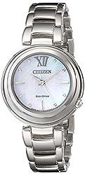 Citizen Eco-Drive Women's EM0330-55D Citizen L Sunrise Analog Display Silver Watch