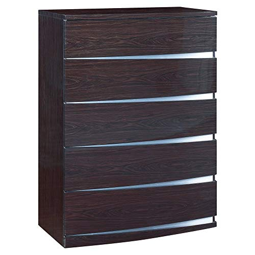 Global Furniture Aria/Aurora Collection MDF/Wood Veneer Chest, Wenge