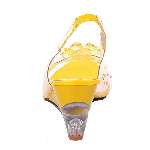 Estate Yellow Sandali Zanpa Scarpe Donne Zeppa wTp5880q