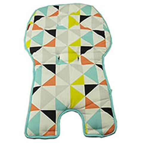 Replacement Seat Pad/Cushion / Cover for Fisher-Price SpaceSaver High Chair (FLG95 Multi Triangles)