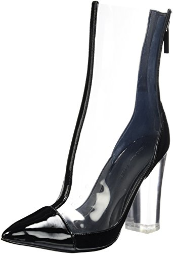 Kendall and Kylie Kkhaven, Stivali Donna Trasparente (Clear Black Patent/Clear)