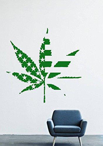 Wall Decals Decor Viny Heart Drugs Smoke Grass Cannabis Weed Marijuana