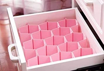 Drawer Grid Organizer Honeycomb Divider Closet Storage Box Underwear Bra Sock