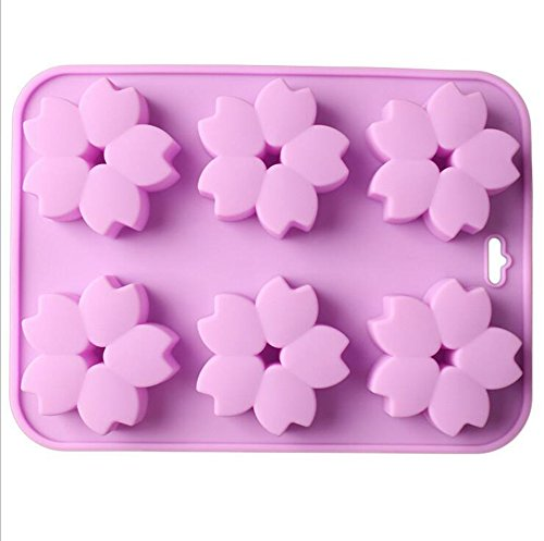 (Freedi Soap Mold Handmade DIY Chocolate Biscuit Cake Muffine Silicone Baking Molds Flower)