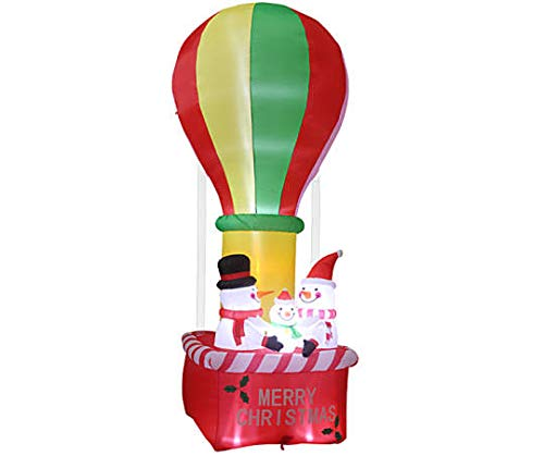 Merry Christmas Inflatable Snowman Family Hot Air Balloon 12FT