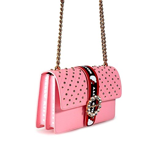 Pinko Ladies 1p214gy4hcp36 Borsa A Tracolla In Ecopelle Rosa