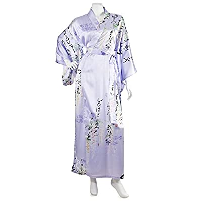 Silk Life Poem Long Lilac Yukata XL