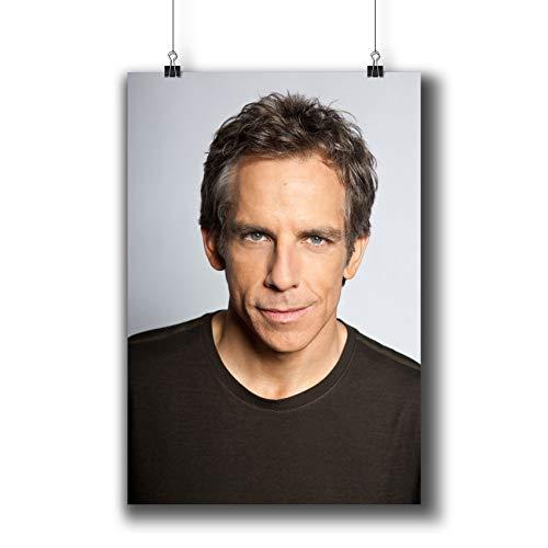 Ben Stiller Actor Movie Photo Poster Prints 413-003,Wall Art Decor for Dorm Bedroom Living Room (A4|8x12inch|21x29cm)