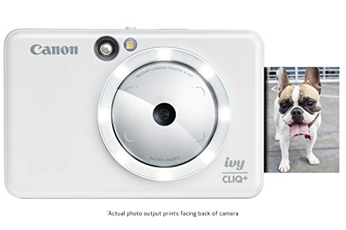 Canon IVY CLIQ+ Instant Camera Printer, Mobile Mini Photo Printer Via Bluetooth(R), Pearl White