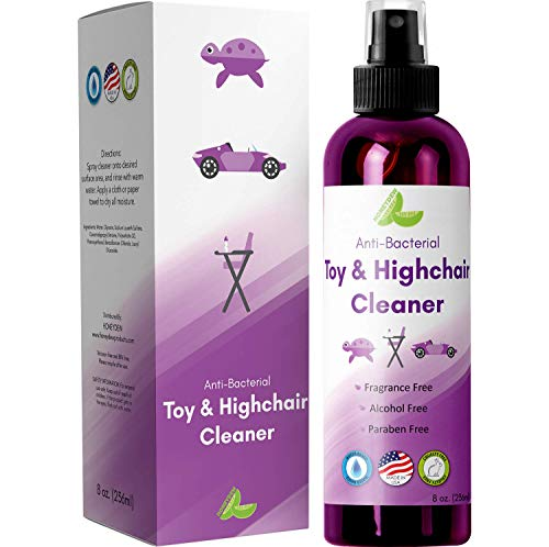Baby Toys Anti-Bacteria Cleaner - A Water Based Non Toxic Formula That Disinfects Toys Rattles Highchairs Counter Tops & Gently Fragrance Free Paraben Free Alcohol Free Cruelty Free 8 oz by Honeydew