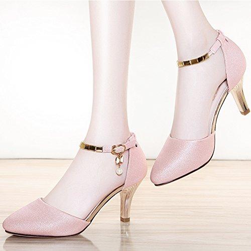 KPHY KLPHY-Pretty/Chaussures pour femmes/Talons Hauts Sandales Joker Sexy 7 Cm Bien Avec Summer Mesdames Mode Au Talon Des Chaussures De Femme.
