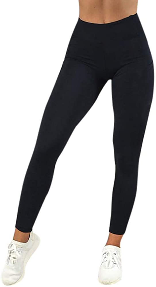 Damen Fitness Work Out Yoga Gym Jogginghose Stretch Leggings Leggins Stoffhosen