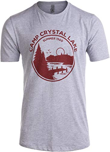 Tall Tee: 1980 Camp Crystal Lake Counselor | Funny 80s Horror Movie Fan T-Shirt-(Tall,3XL) ()