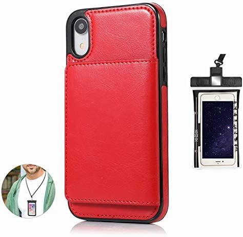 耐汚れ 手帳型 iPhone 8 PLUS ケース 手帳型 本革 レザー カバー 財布型 スタンド機能 カードポケット 耐摩擦 全面保護 人気 アイフォン[無料付防水ポーチケース]