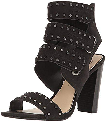 (Jessica Simpson Women's ELANNA Heeled Sandal, Black, 10 B(M) US)