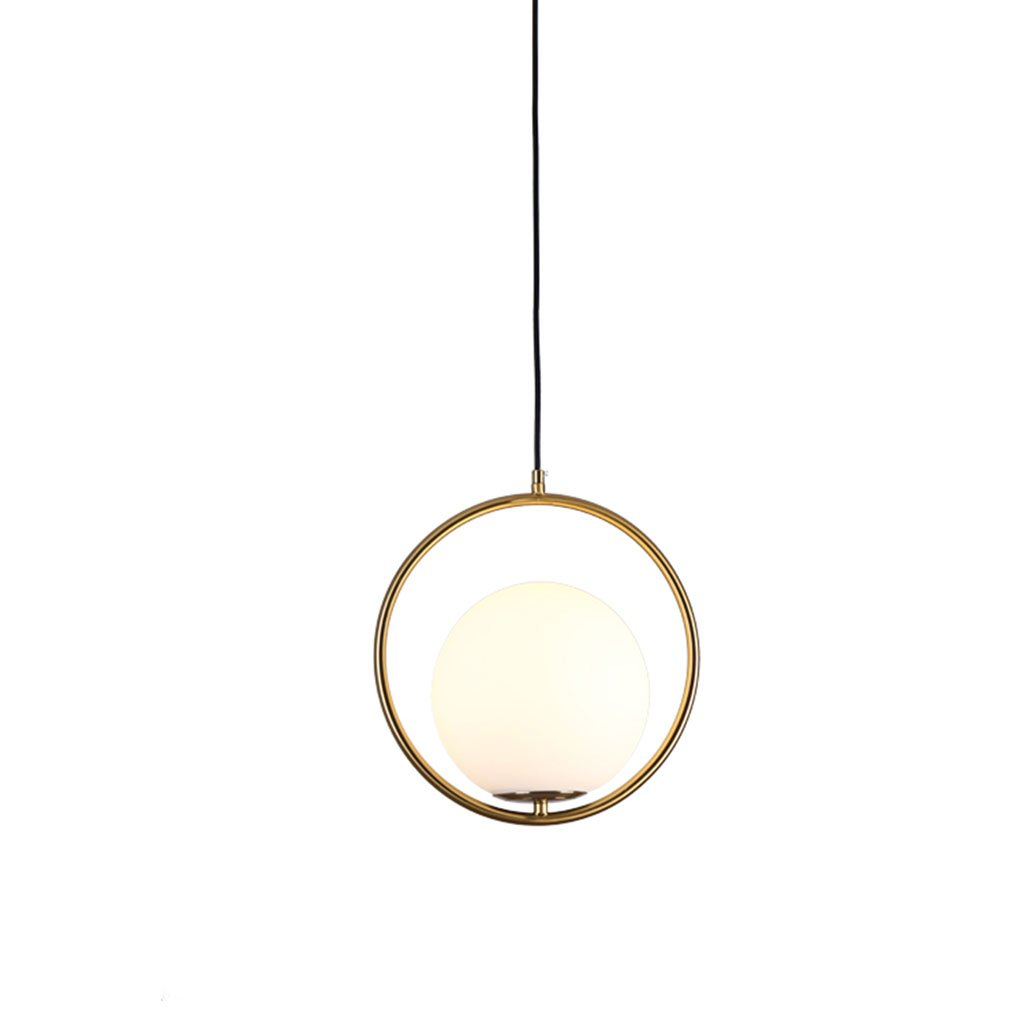 &Kronleuchter Kronleuchter - Nordic Postmodern Schlafzimmer Bedside Restaurant Kronleuchter Glas Runde LED Creative Single Head Kronleuchter (30cm  30cm)  Hängeleuchte (Größe   35cm)