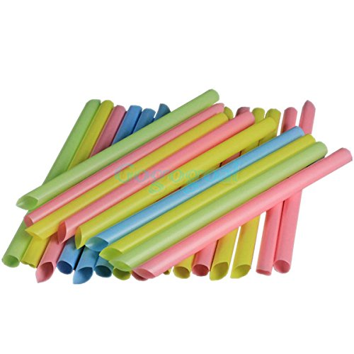 50 Bubble Boba Tea Fat Drinking Straws Party Smoothies Jumbo Thick Drink (Smith College Costumes Design)