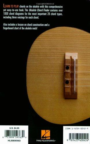 Amazon Hal Leonard Ukulele Chord Finder Easy To Use Guide To