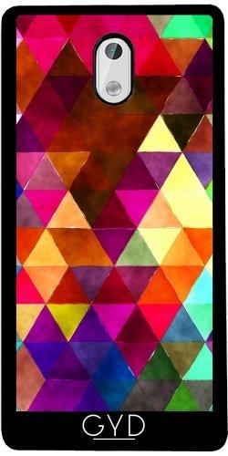 Funda de silicona para Nokia 3 - Triángulos Retro 02 by Aloke Design